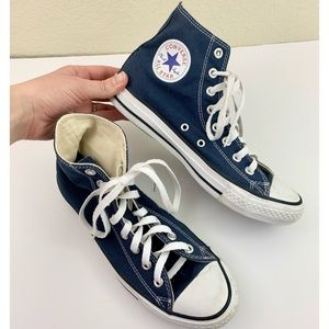 Converse High Tops Navy Blue Sneakers